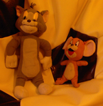 Tom and Jerry Plushies by WeaselHTF