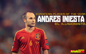 Andres Iniesta - European Player of the Year by afiqreza7