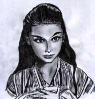 Audrey from Roman Holiday by davorsite