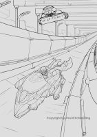Hover Bob Race Drawing by Brollonks