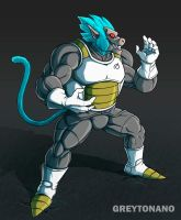 Vegeta Oozaru SSJ BLUE by greytonano
