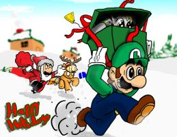 Christmas Came Early for Luigi by s216Barber
