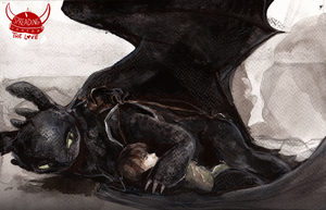 Yet Another Toothless Watercolour by Dreamsoffools