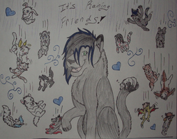 It's raining friends- POSTER by boxes-of-foxxes