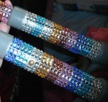Rainbow Sparkle Crutches by Amazinadrielle