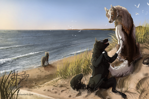 Commish: Day at the Beach by Aminirus