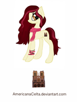 Notre Dame Pony adoptable (closed) by AmericanaCelta