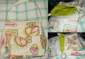 Textiles:Handbag with lining by waffle-faceXD