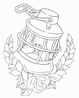 ships navigation light drawing by BlackStarTattoo