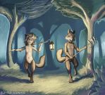 Through the enchanted forest by Black-Cloak