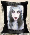 I Wish Your Blood by DA's Cappry-Arts Art Pillow by ObsidianRavenShadow