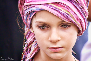 Portrait of a little girl by transp