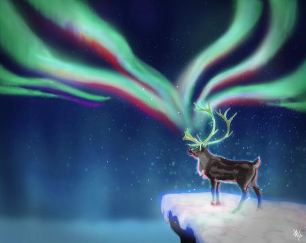 Magical reindeer by Brie91