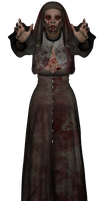 Zombie Nun stock png 02 by Ecathe