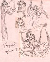 Tangled Sketch Dump by Rose-Rayne