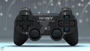 SONY PS3 DUALSHOCK 3 wireless controller Suede by philphilos