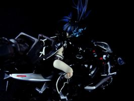 Black Rock Shooter Motorcycled 2 by HunterX-v2