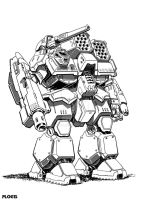 Commission: Chieftan Battlemech by mattPLOG