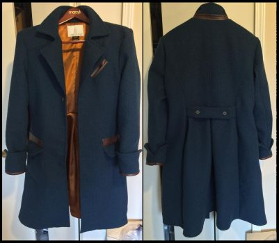 Newt Scamander coat front/back by TimeyWimey-007