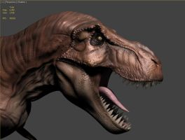 T-Rex Model WIP 5 - Realtime render test by FoxHound1984