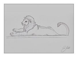 Lion sketch by Yoell