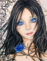 The Blue Rose by Heizui