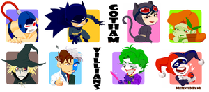 Gotham villians by NRjin
