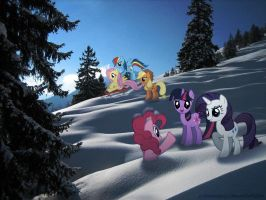 Snowy Hill by Mixermike622