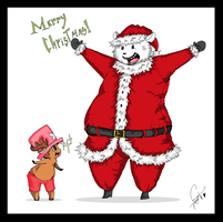 Have a Fuzzy Christmas by Squidbiscuit