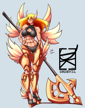 Axe Angel by DKDevil