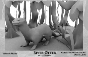 River Otter in Habitat by Vinnie14