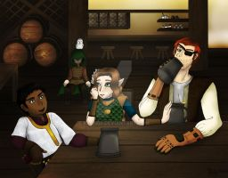DnD--Tavern Scene by Keah59