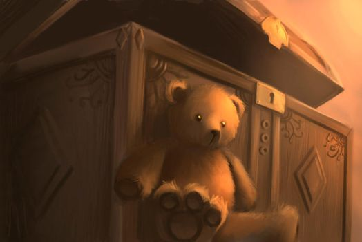 Bear and chest by arcipello