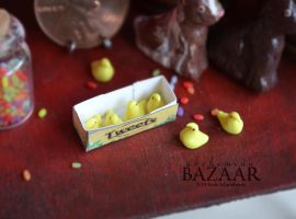 Tweets- Marshmallow Chicks 1:12 Scale by TheMiniatureBazaar