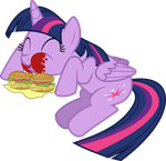 Princess Twilight Sparkle Burger Time by Jeatz-Axl