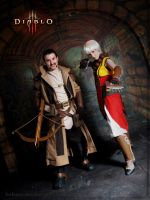 Diablo III - A Monk and a Scoundrel by freltana