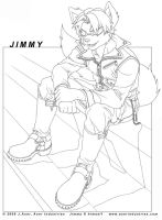 Jimmy the Wolf by JayAxer