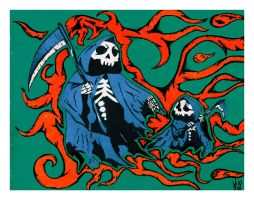 Grim Reaper and SON Poster by kwpatrick
