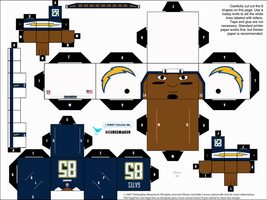 Antonio Gates Chargers Cubee by etchings13