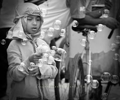 Girl and Bubbles by LaaLaa87