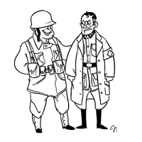 TF2- WWII Soldier and Medic by monkeyoo