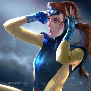 90's X-men: Jean-grey by zano