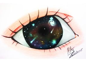 Galaxy Eyes by VSIIllustrations