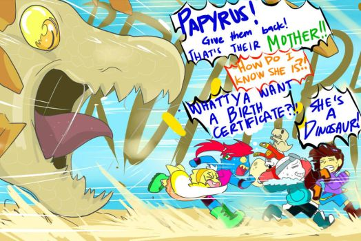 Quantumtale: DINO DISASTER by perfectshadow06