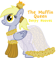 Derpy's Gala Dress: The Muffin Queen by InkRose98