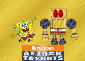 SPONGEBOB AND SPONGEBOT by mayozilla