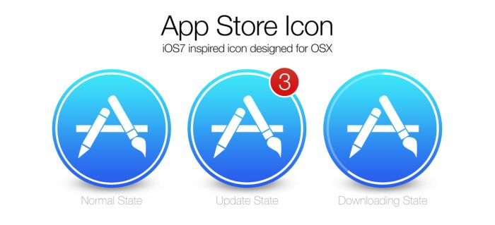 iOS7 App Store icon for OSX by JonnyBurgon