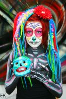 Sugar Skull Body Paint I by FrankensteinBabe