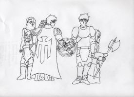 TK Story lineart part 1 of 6 by 11rnolson