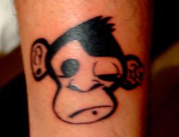 Monkey tattoo better by denisbembi